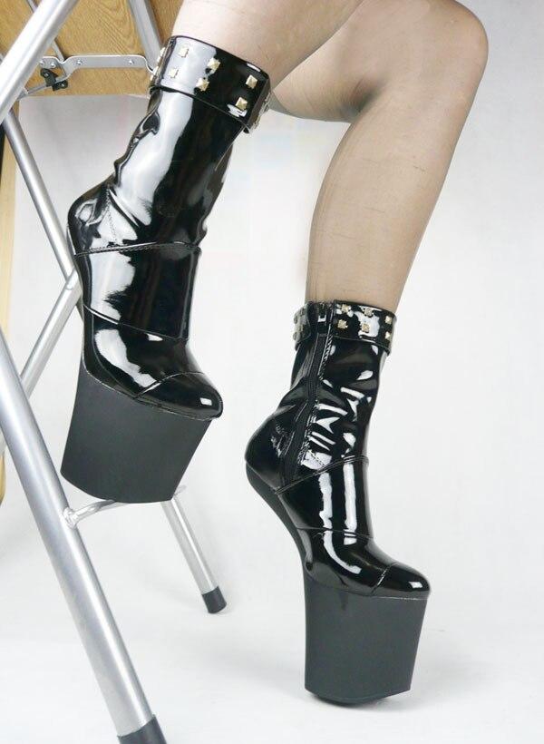 2015 heelless boots s boots 20cm heelless patent