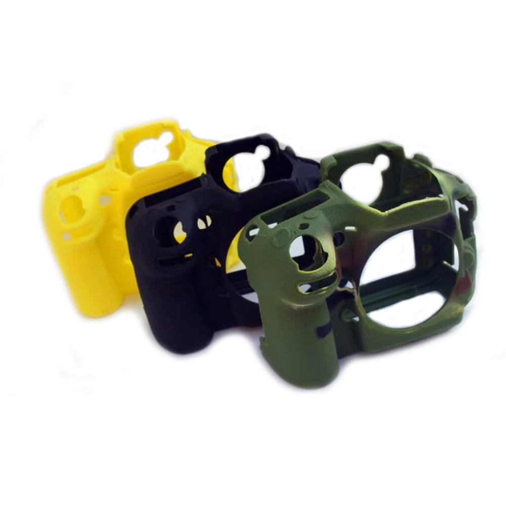 Silicone <font><b>Rubber</b></font> Camera Case for NIK0N <font><b>D800</b></font> D810 Body Skin Housing Frame Case Protector Anti-skid DSLR Camera Protective Shell image