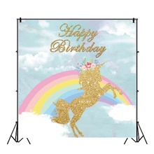 Yeele Rainbow Unicorn Birthday Party personalized photocalls Photography Backgrounds Photographic Backdrops For Photos Studio