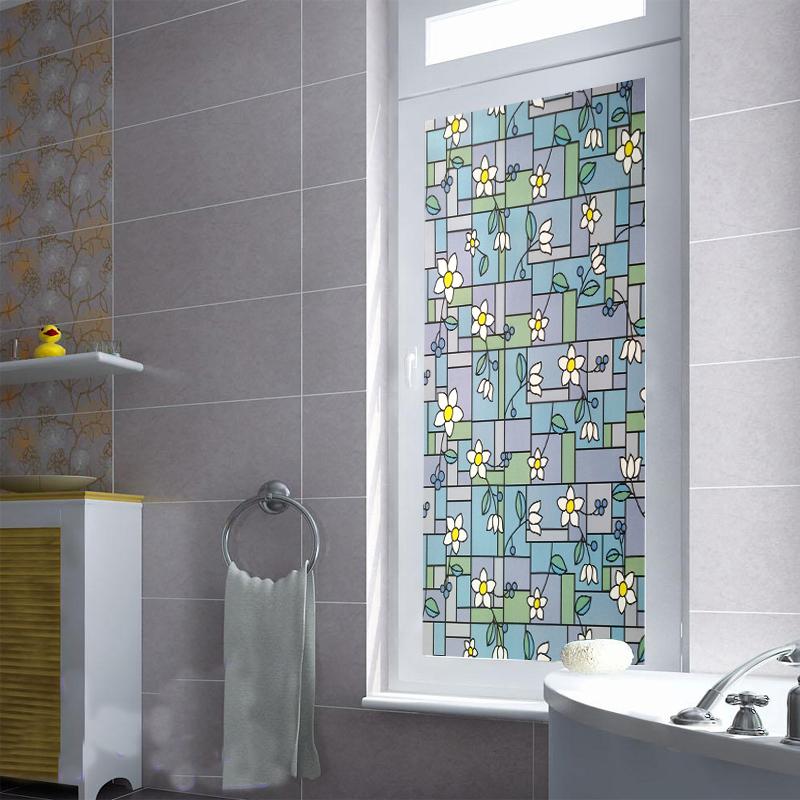 x cm pegatinas puerta de cristal translcido estudio cocina vinilos para ventana uv stick