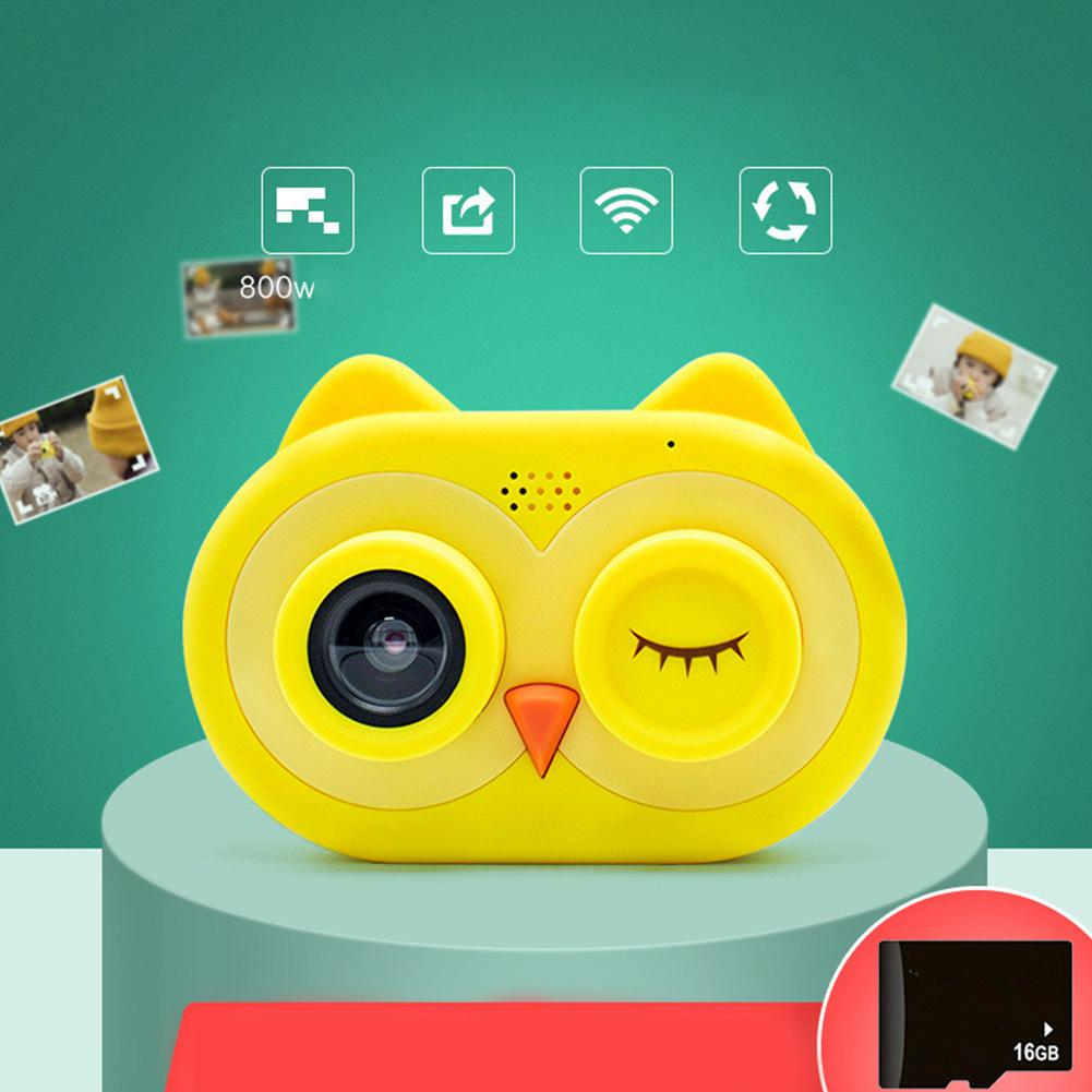 HobbyLane Kids Cartoon Owl Shape Smart Mini Camera 800W HD SLR Cam Kid Children 60s Video Camera Photos Frame Mode Birthday Gift