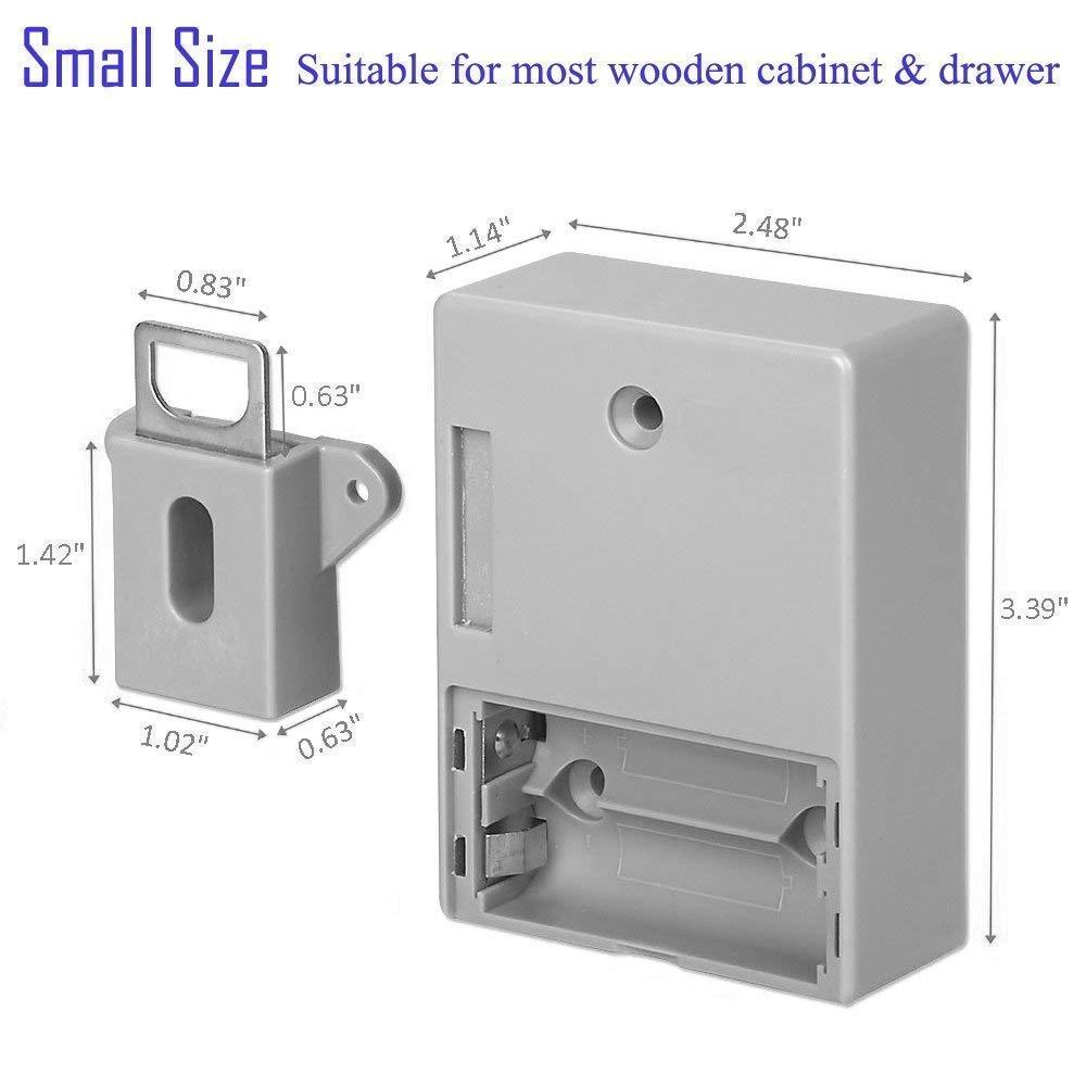 New-Invisible Hidden RFID Free Opening Intelligent Sensor Cabinet Lock Locker Wardrobe Shoe Cabinet Drawer Door Lock Electroni