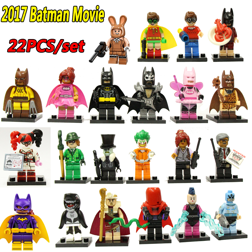 22PCS Super Heroes Batman Movie Harley Quinn Robin Killer Whale Poison Ivy Clown Figures Builidng Blocks Toys flytop 10 x t10 canbus 5smd 5050 smd error free car bulb w5w 194 led lamp auto rear light white blue yellow red color can bus