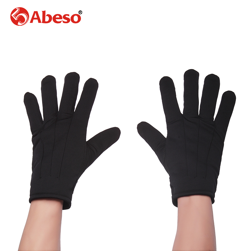 Abeso Gloves Mitten Women Autumn Winter Outdoor Warm Inverted Cashmere Cotton protect Glove Solid Color Touch Gloves pair of sweet cashmere hooded women s winter gloves with exposed fingers