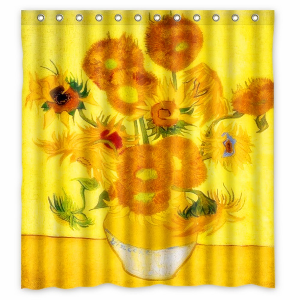 Anime Shower Curtain One Piece Dragon Ball Z Bleach Fairy Tail Naruto  Together Van Gogh sunflower - Compare Prices On Sunflower Shower Curtains- Online Shopping/Buy