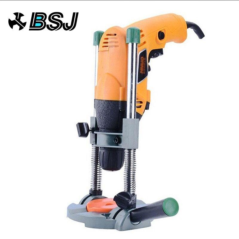 Guia de guia de broca de precisão suporte de broca de tubo guia de perfuração com ângulo ajustável e alça removível ferramenta diy