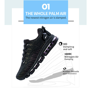 Image 4 - ONEMIX FASHION Men Reflective Uppers Casual Shoes Women Air running Shoes Lightweight Sneakers  Walking Trainers