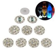 1Pcs Super bright LED Flash Bottle Light Glorifier Wine Bottle Led Sticker Cup Mat Coaster for Party Wedding Bar Decoration