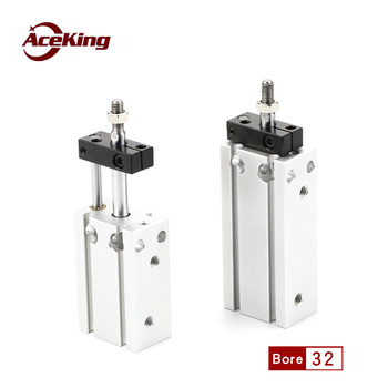 CDUK32*/CUK32* by 15/30/45/60/75% / 20/25/30/35/40/45 pole not rotating cylinder free installation Small cylinder with guide rod