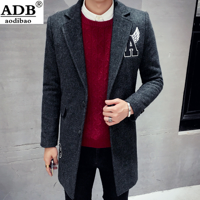 Aodibao 2016 New Arrival Printing Pattern USA Men's Causal Winter Coat Single Button Fashion Blazers Suits For Men Plus Size 2XL