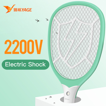 YAGE Electric Mosquito Swatter Killers usb Pest Control Bug Zapper Reject Racket Trap 2200V Shock with Lights - discount item  50% OFF Garden Supplies
