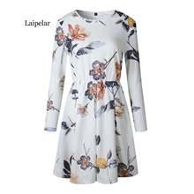 Женское Повседневное платье laipelar пляжное из шифона с о вырезом