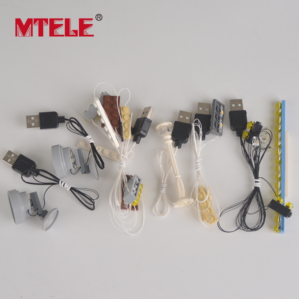 MTELE Brand LED Light Up Kit Untuk Pencipta City Street Palace Cinema - Mainan pembinaan - Foto 6