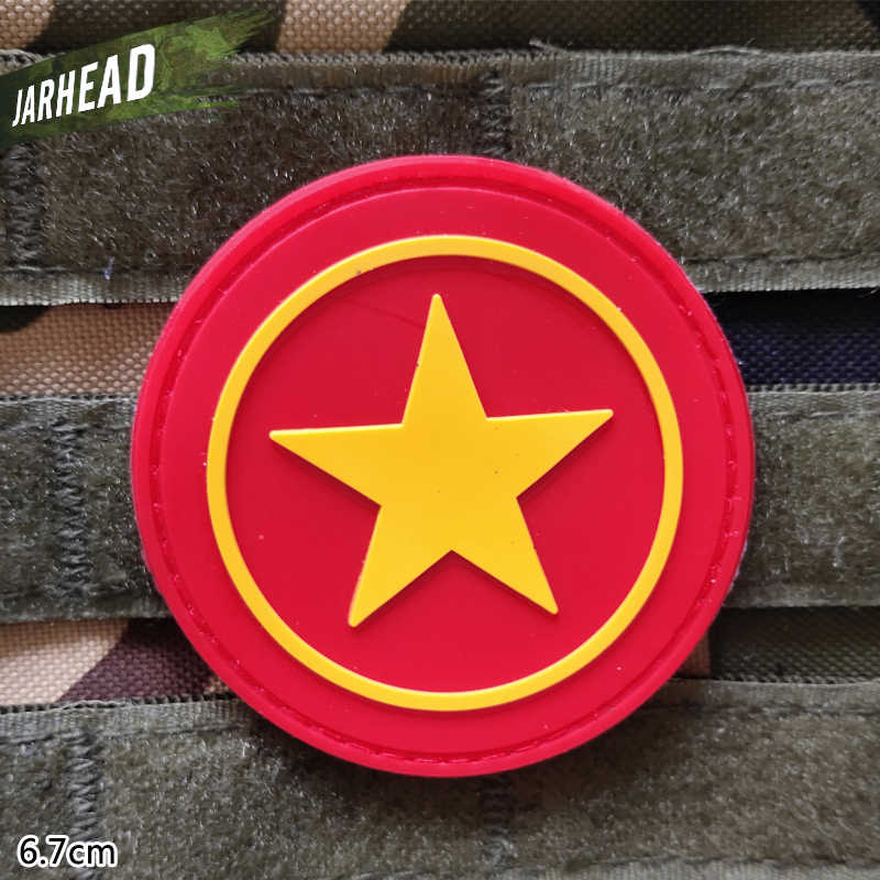 Красный Капитан Америка щит Военная ПВХ нашивки липучка резиновая нашивка Тактический значок личность для кронштейн одежда куртка