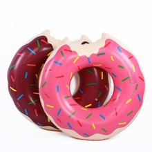 60cm 70cm 80cm 90cm 120cm Inflatable Watermelon Donut Swimming Circles for Kids Adults Donut Pool Float Swim Rings for Kids Toys 80cm seashell swimming tube transparent swimming circles for kids inflatable colorful glitters pool float swim circle pvc boats