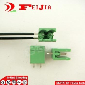 (100pcs) 2EDGK-5.08-2P+ 2EDGVC-5.08-2P  Straight Pin Screw Terminal Block Connector 2 pin 5.08mm Free shipping