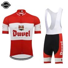 DUVEL пиво для мужчин Велоспорт Джерси Набор красный pro команда Велосипедная одежда 9D дышащая гелевая прокладка MTB Дорога одежда для велоспорта гоночная одежда