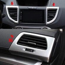 PARA 2012-16 HONDA CRV CR-V ACESSÓRIOS ABS Chrome Tampa Guarnição Interior Ar Condicionado Saída de Ventilação