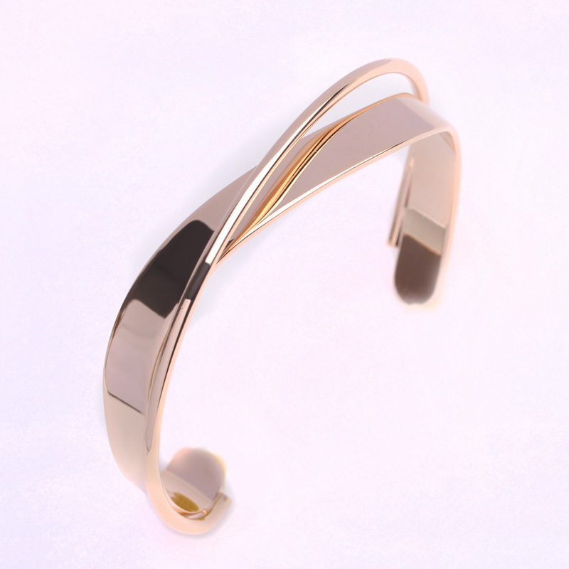 Blucome Fashion Adjustable Rose Gold Color Bangles Bracelets For ...