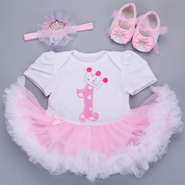 8aebb9aaf 0 3 months baby girl dresses headband shoes set infantil Children s ...
