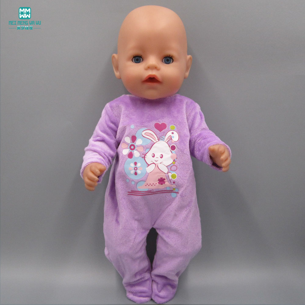 Baby Born Doll Clothes dress Fit 43cm Zapf Baby Born Doll Purple plush crawling clothes 4 pin ide male to 2 port 15 pin sata female sata y splitter female power adapter cable computer cables