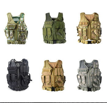 Outdoor amphibious combat military training combat assault vest hunting vest protection camouflage tactical security clothing