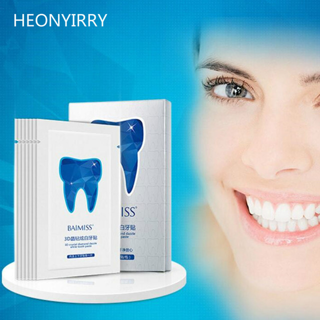 28pc 14pairs 3d Teeth Whitening Strips Clareador Dental Smile Tooth
