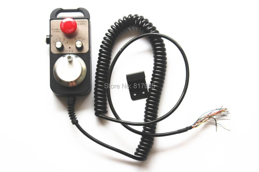 On sale 4 Axis Handwheel with Emergency Stop MPG Pendant manual pulse generator for Siemens MITSUBISHI