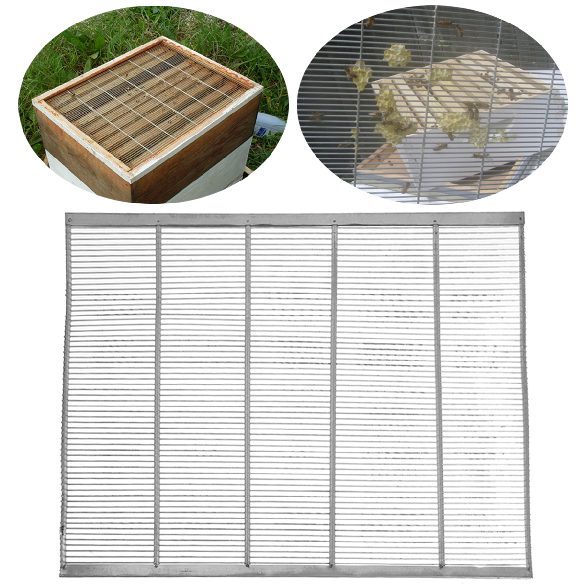 New Arrival Galvanized Iron Frame Bee Queen Excluder Trapping Net Grid Beekeeping Metal Equipment Farming 51x41CM