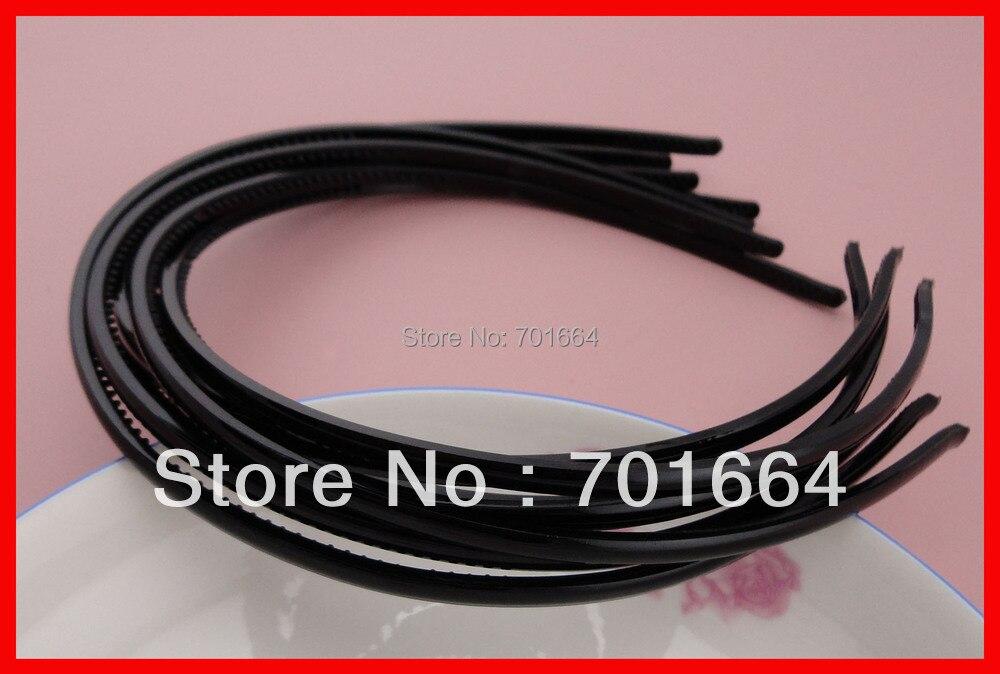 10 шт. черные мм 4 мм Мини Простые Плоские лицо пластиковые волосы повязки с зубами на экологически чистый материал, сделка для оптом