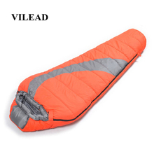 VILEAD Mummy type Ultralight Sleeping Bag Portable Waterproof Hiking Camping Stuff Adult Sleep Quilt Bed bag Lightweight Winter