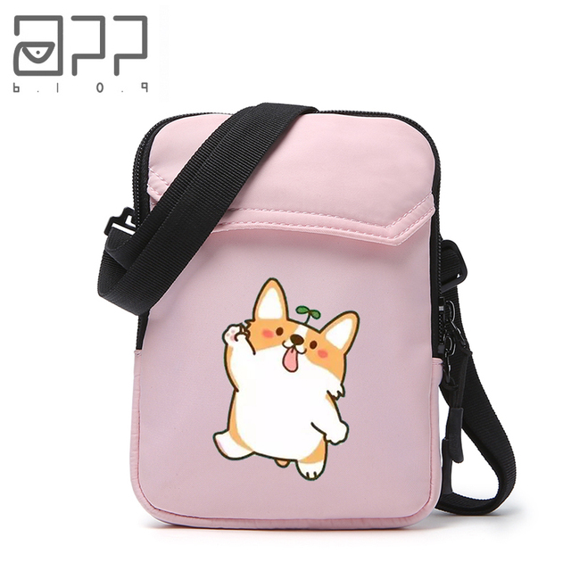 Us 9 72 46 Off App Blog Funny Cute Dog Women S Purse Crossbody Messenger Bags For Coin Card Cash Invoice Phone Bag Handbag For Teenager Girls In