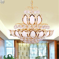 Crystal Light LED Crystal Light Engineering Lobby Restaurant Lamp Manufacturer Direct Gold Chandeliers Lmy 0188