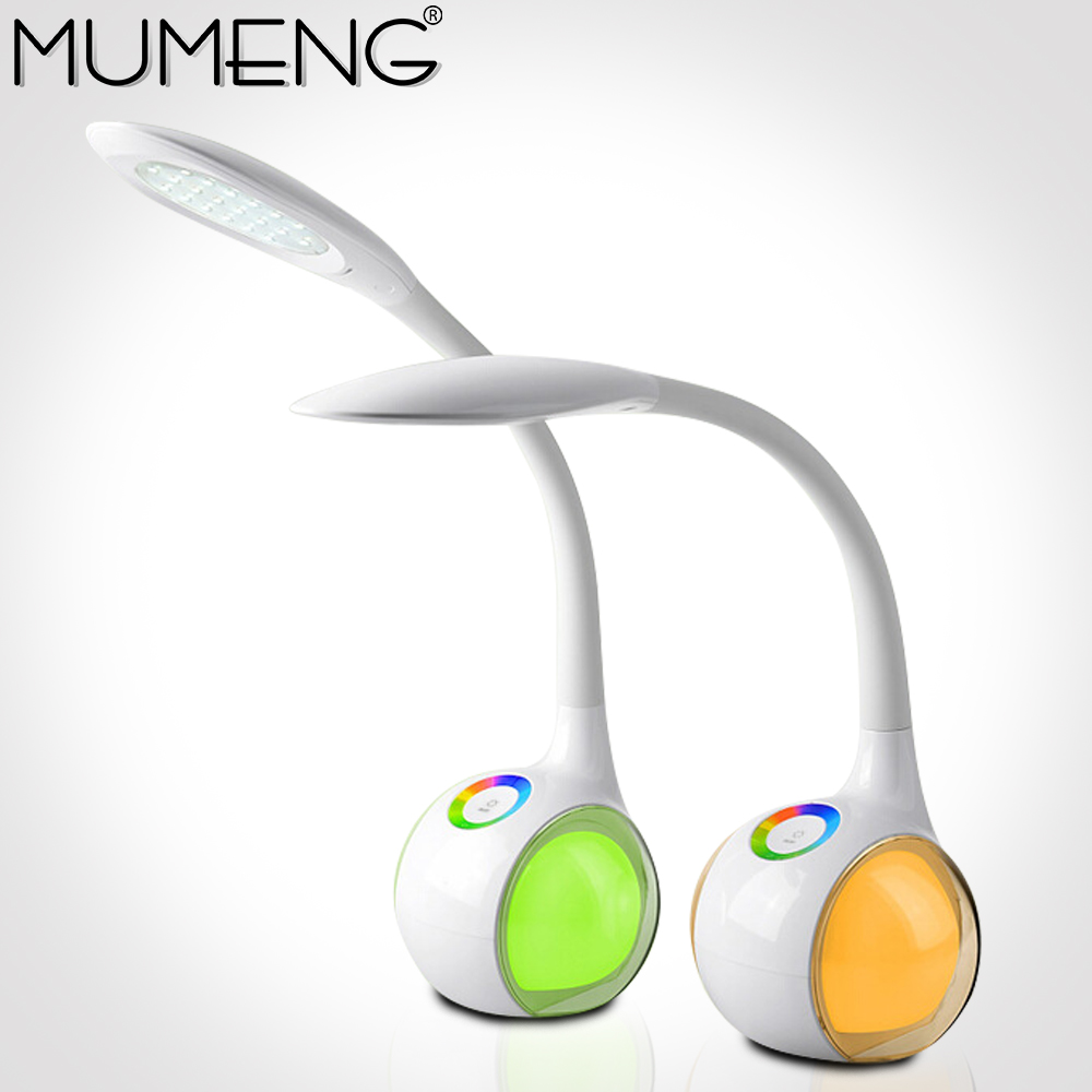 Mumeng LED Desk Lamp 5W Gooseneck Table Reading Bedside Touch Light DC5V Children Study Book Lampe Flexible ambient led lampada yage desk lamp book reading night light colorful lamp for study non limit brightness 34pcs led 3 modes lamp eu usa uk plug