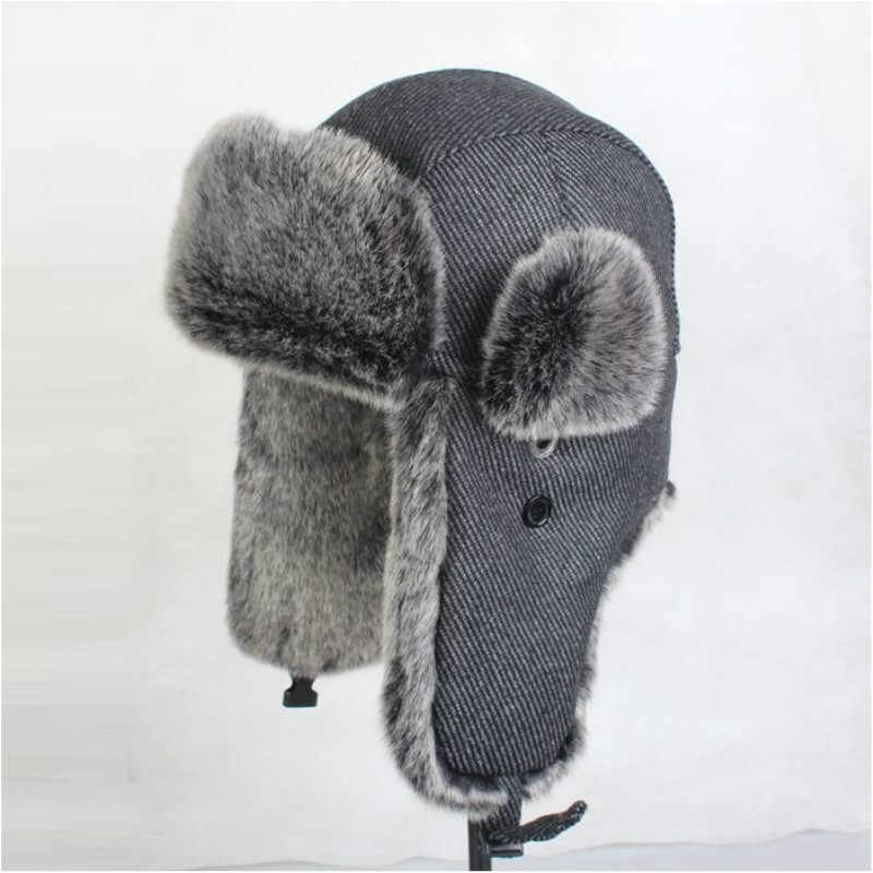 Men's Bomber Hats Plus Size Extra Large Ear Protection Cap Adult Lei Feng Winter Outdoor Warm Cap Male Windproof Cap B-8539