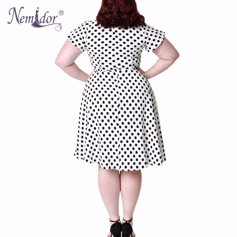 Unique_Vintage_Plus_Size_1940s_Style_White_Black_Dot_Formosa_Swing_Dress_2