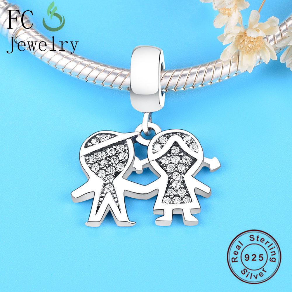 04f2935c4 ... Pandora Charm Bracelet 925 Silver Family Robot Boy Girl Letter Best  Friends Bead Pendant DIY Berloque USD 5.24-9.37/piece. zz-20-1 176-2 172-2  174-2 ...