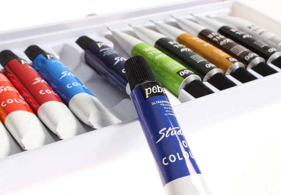 Free shipping authentic France Pebeo 24 color oil paints Painting materials for artist gift Aquarelle Fine oil paint iarts aha072962 hand painted thick texture of knife painting trees oil painting red 60 x 40cm