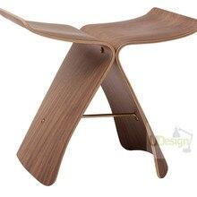 Сквд мебель современного дизайна Реплика сори Янаги стул с бабочками для гостиной