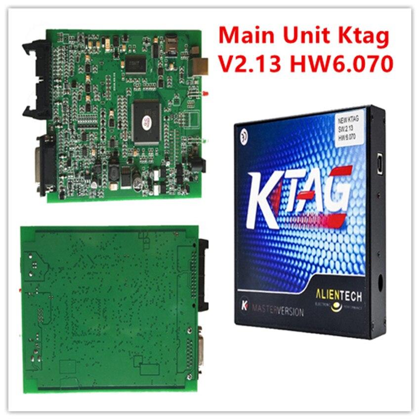 Prix pour Meilleur Vente Nouveau KTAG Unité Principale SW V2.13 HW V6.070 Auto ECU Programmation Pas Jetons Limitée K TAG Logiciel Libre et ECM Ritanium 161