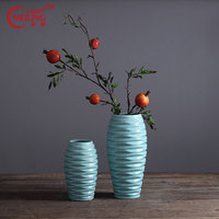 Hot Selling Antique Chinese Porcelain Vases Blue for Wedding Garden Home Living Room Decoration Large Flower Vases Height 30CM