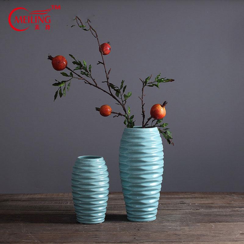 venta caliente antiguos jarrones de porcelana china azul para la boda de jardn sala de estar casera decoracin de jarrones de f