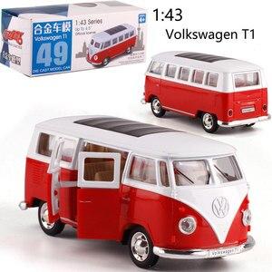 Image 4 - Caipo 1:38 Pull back auto Volkswagen bus T1 Legierung Diecast Metall Modell Auto Für Sammlung & Geschenk & Dekoration