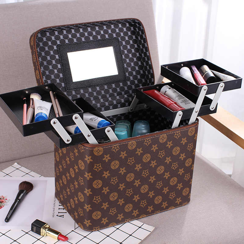 77d0a09eb398 Mke Up Bags Cases Cosmetic Bag Travel Makeup Case PU Women Organizer ...