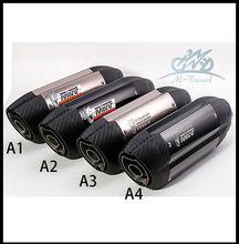 Motorcycle sports car modified MT07 09 for  10RZX6R10R Z800 Italian devil MIVV exhaust pipe 36-51mm universal ninjia er6n z1000
