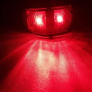 Image 5 - 1 pièce 24V 0.6W rouge remorque feux de position latéraux LED camion arrière lampe voiture accessoire camion Auto Signal lampes caravane indicateur