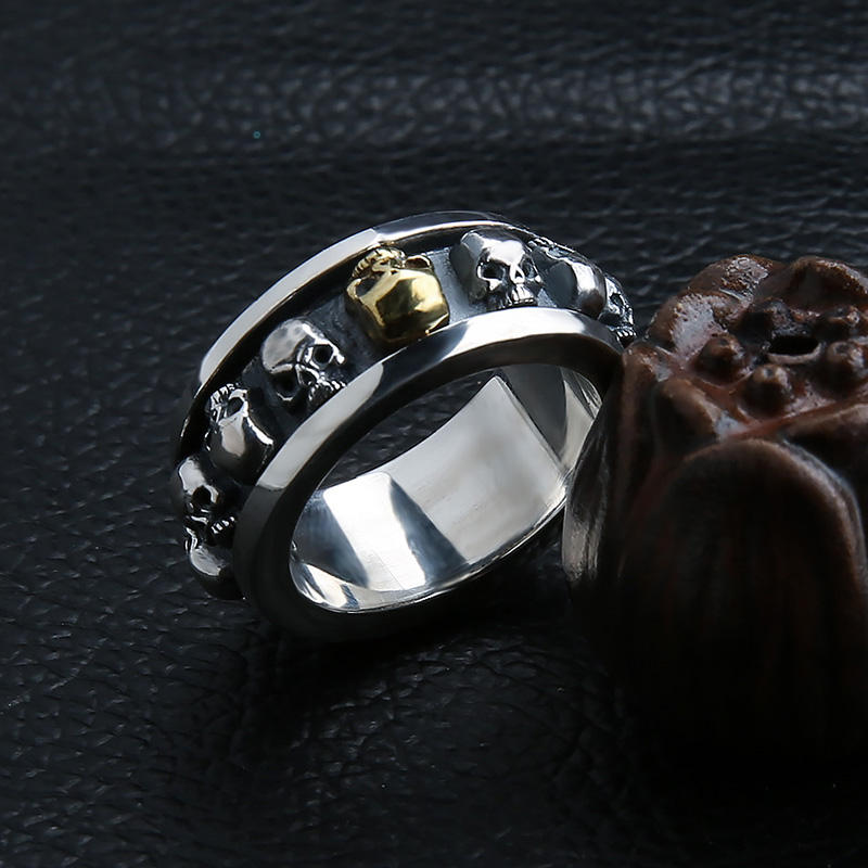 Image 3 - Sterling Silver Jewelry 925 Silver Ring Steampunk Men Rings  Rotatable Skull Ghost Thai Silver Ring Men Laser Engrave Name  Logojewelry armoirejewelry kingdomjewelry tube