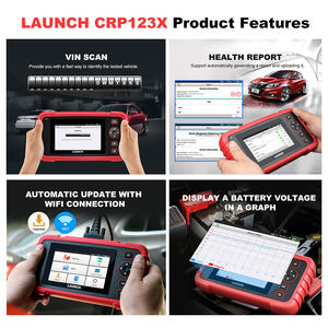 Image 4 - launch x431 crp123X obd2 scanner auto code reader car diagnostic tool ENG AT ABS SRS diagnostic scanner automotive tool crp123