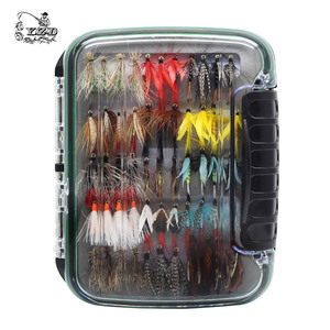 Image 5 - 110 pcs Dry Wet Fly Lures With Fly Waterproof Box Trout Lures Fly Fishing Bait Lure Fishing Tackle