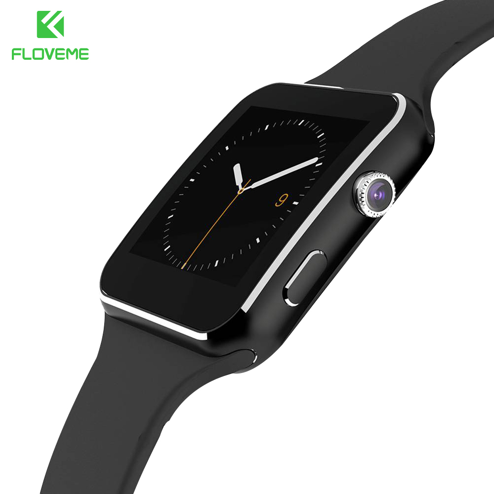 FLOVEME Luxury Smart Watch Fashion Bluetooth On Wrist Clock For Android Pedometer Dial Call Wristwatch Heart